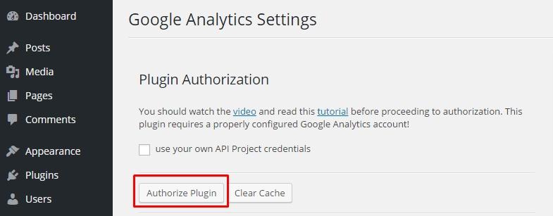 WP-Google-Analytics-Authoriz